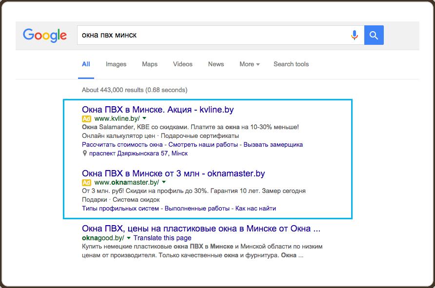 Оплата рекламы google adwords